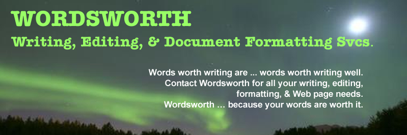 Wordsworth Writing Technical Editing and Document Formatting Services